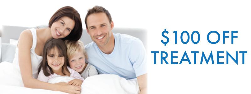$100 off dental treatment