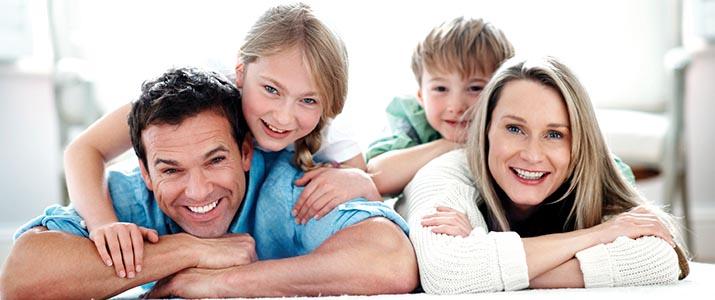 A family getting preventive dental care in Roseville