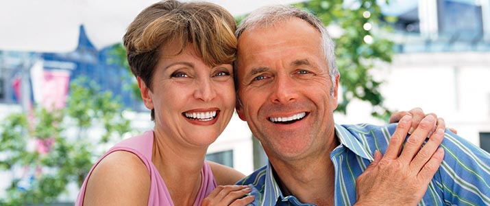 Couple eligible for cosmetic and restorative dental