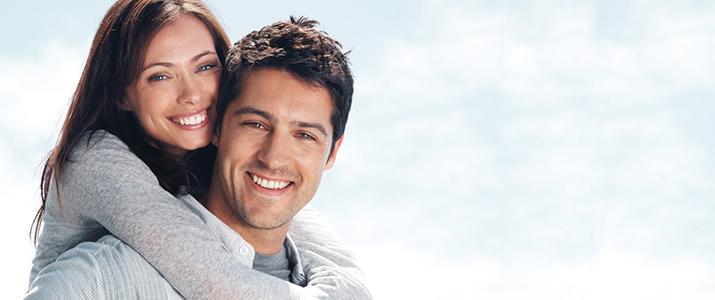 couple after restorative dental care